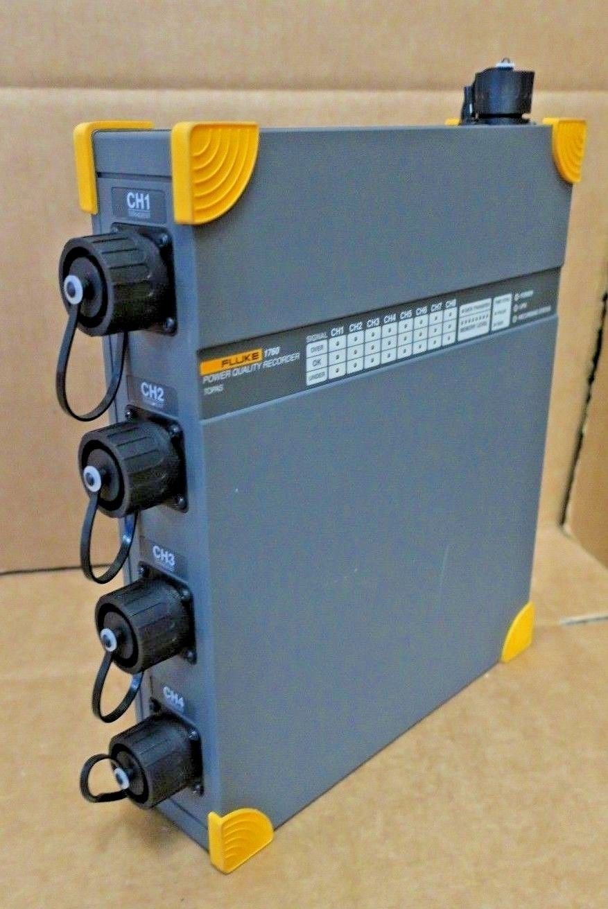 Fluke 1760 Power Quality Recorder Topas 8 Channel Voltage Current And Tester 3 Phase